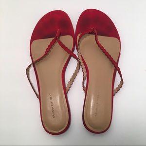 Banana Republic Sandals Flip Flops Slip Ons Red